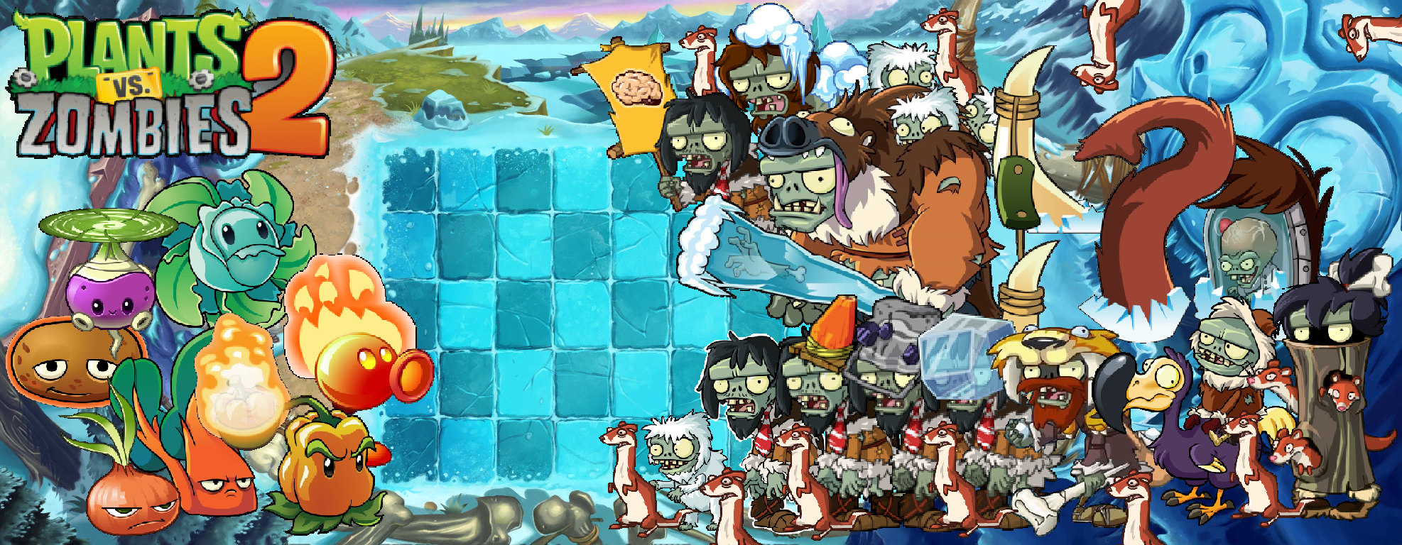 Plants Vs Zombies 2 Frostbite Caves Wallpaper By Photographerferd
