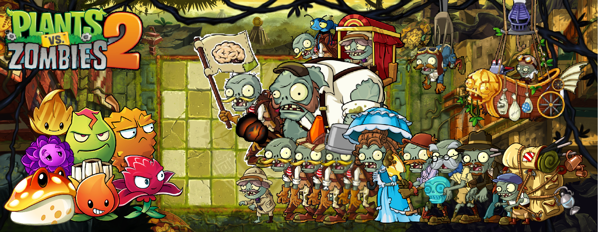 Plant Vs Zombies 2 Wallpaper: Plants Vs Zombies 2 Lost City Wallpaper By