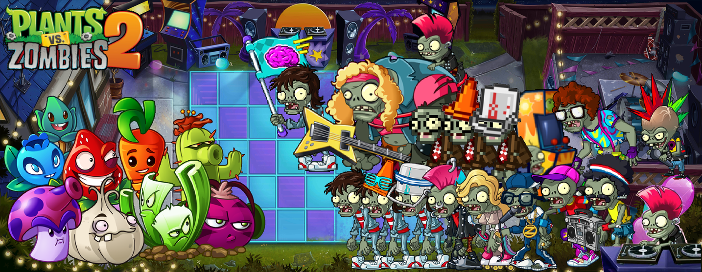 plants vs zombies 2 neon mixtape tour wallpaperphotographerferd