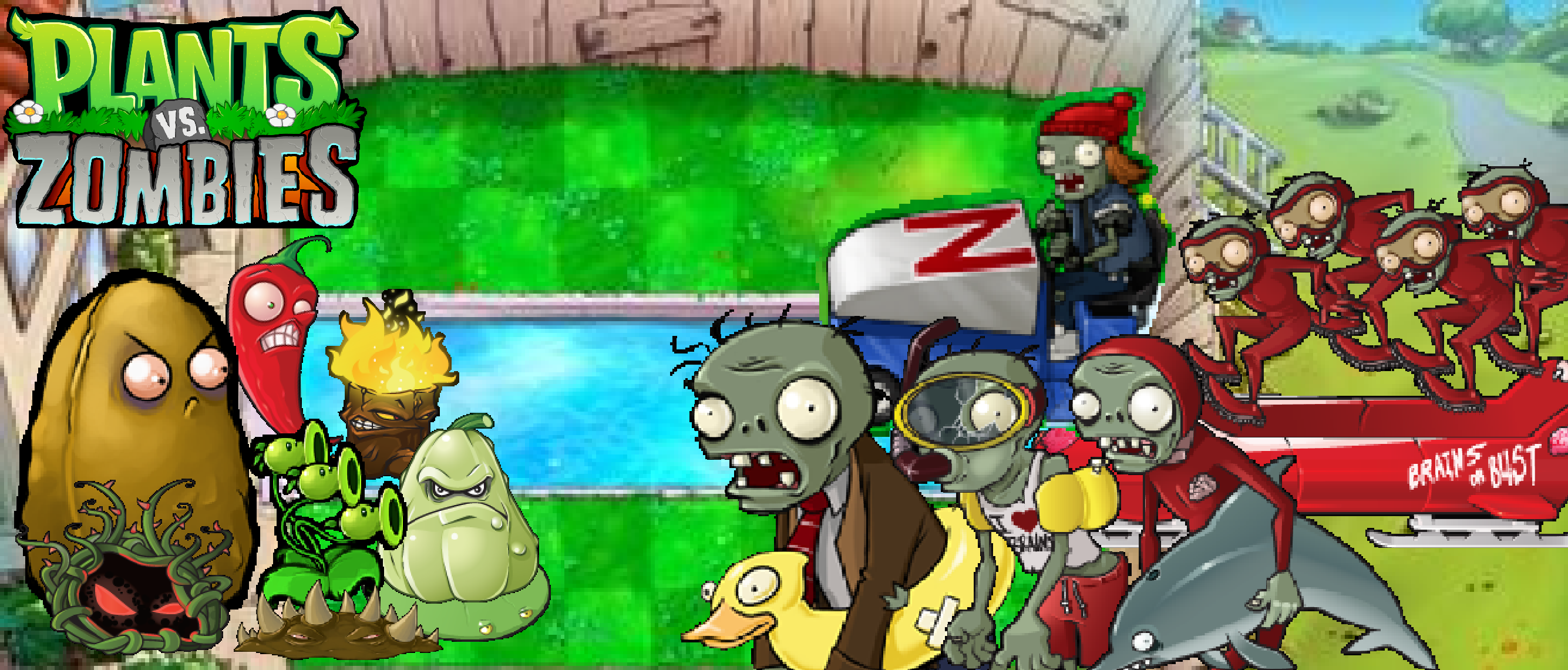 plants vs zombies pool wallpaperphotographerferd on deviantart