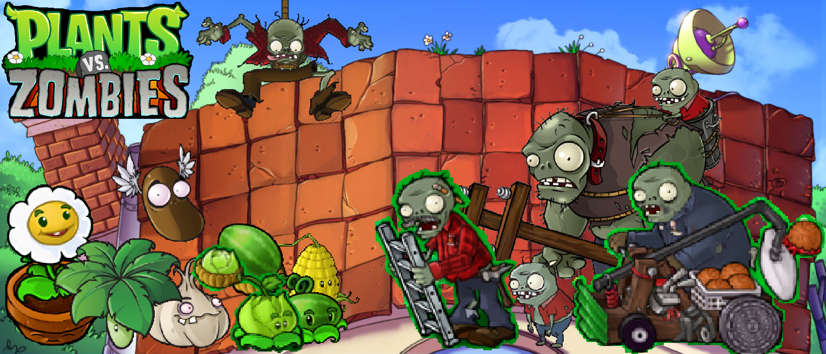 plants vs zombies roof wallpaperphotographerferd on deviantart