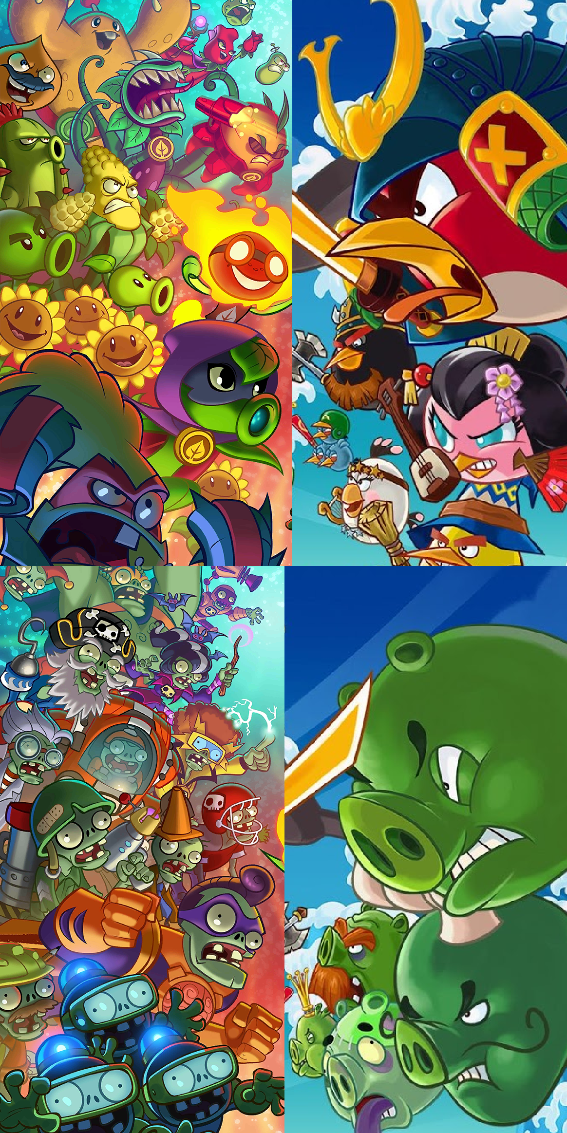 Plants Vs Zombies Heroes X Angry Birds Fight By