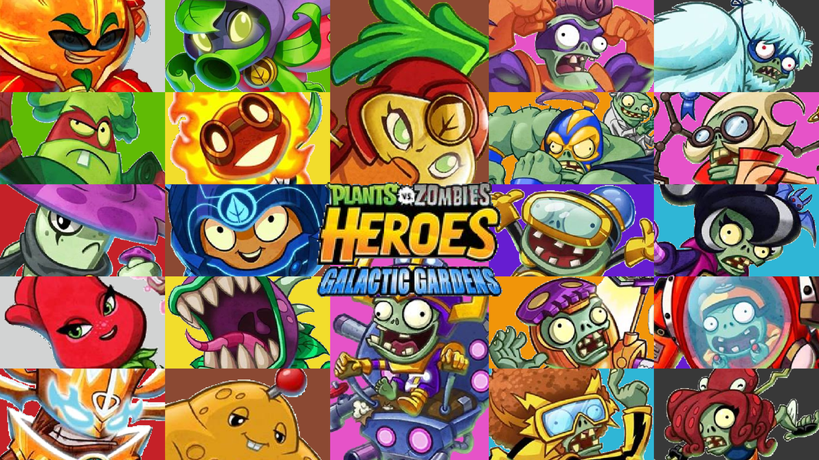 plants vs zombies heroes galactic garden wallpaper