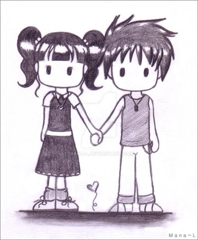 Cute Couple Holding Hands By Mana L On Deviantart