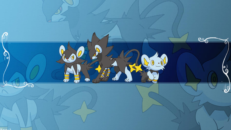 Shinx Family Wallpaper by Mana-L