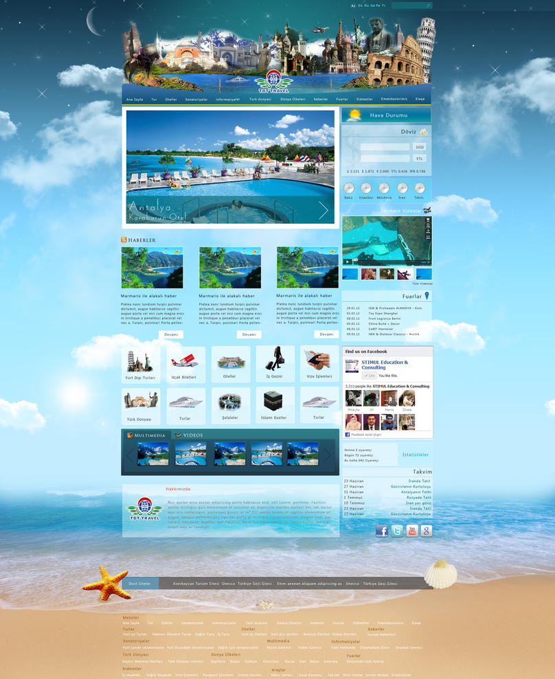 Web Template For Travel Site Royalty Free Stock Photo - Image ...
