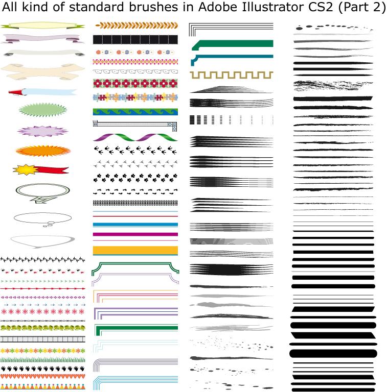 Brushes in Illustrator CS2 II by Possy73