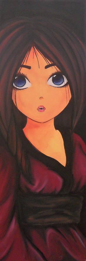 Nikki Anime on Canvas