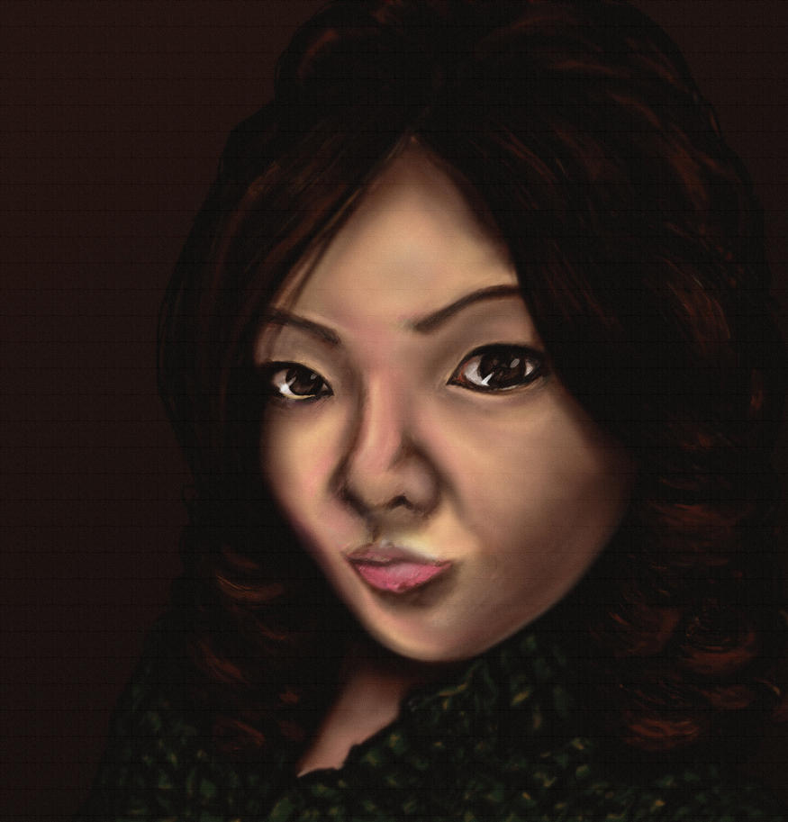 self portrait digital art gimp anna legaspi art