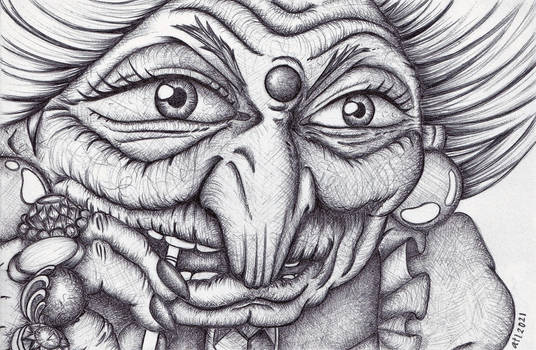Yubaba Spirited Away - Anna Legaspi Art