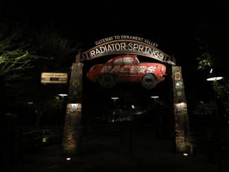 Empty Radiator Springs Racers