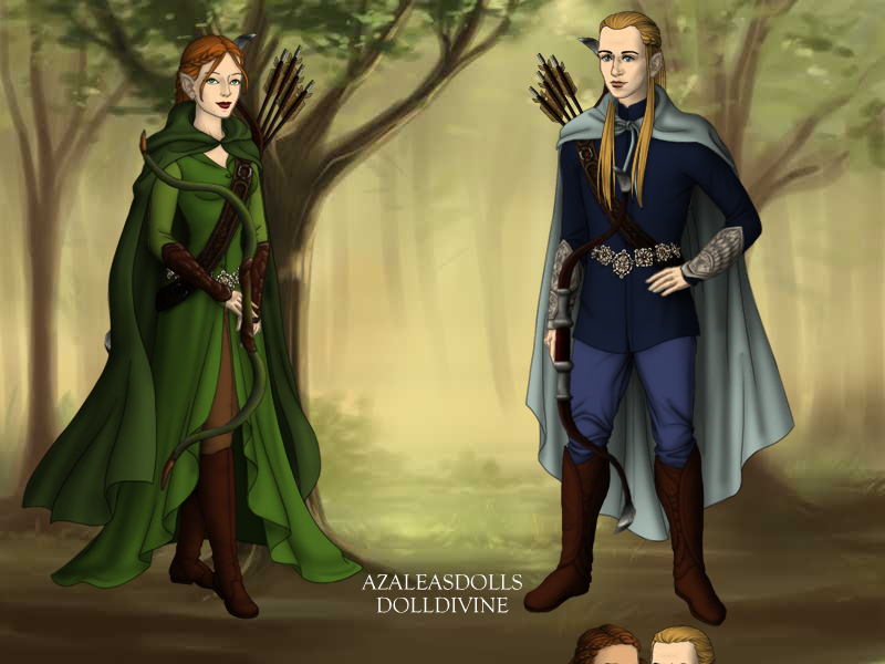 Legolas and Tauriel by RUNYOUCLEVERBOYAND on DeviantArt
