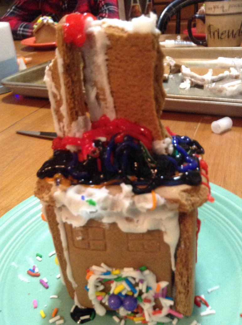 My epic ginger bread house. by KnightedArtist