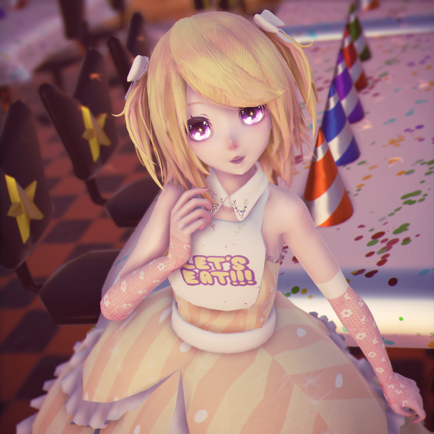 [MikuMikuDance|MMD] Chica The Chicken FNAF by AngelinaSchmidt