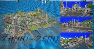 Zanki Zero - abandoned city island stage - MMD