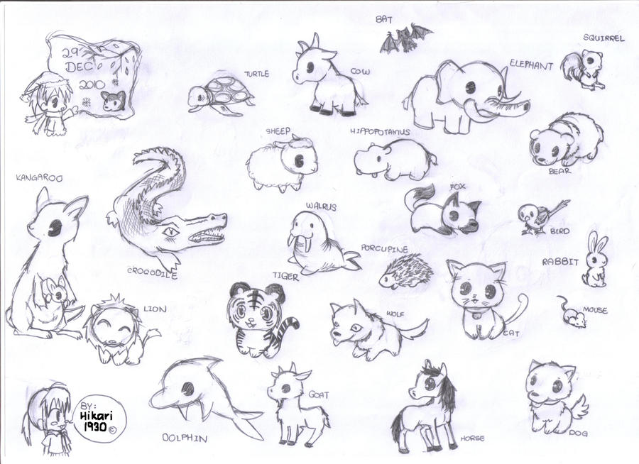 chibi animals coloring pages - photo#35