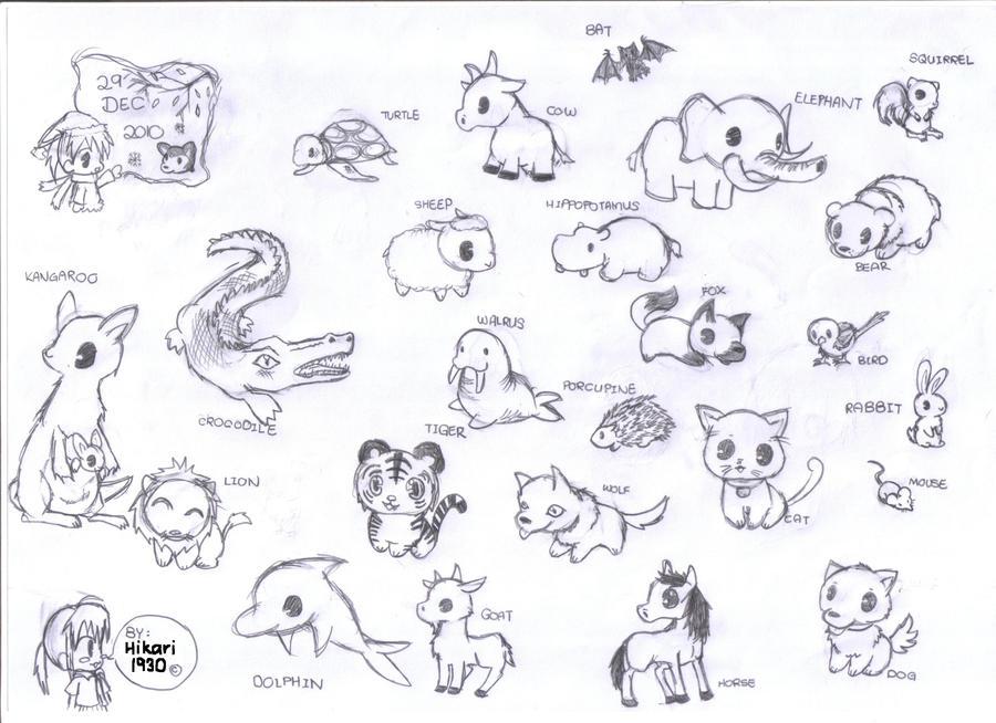chibi animals by hikari1930 on DeviantArt