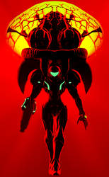 Samus and Metroid by GeniusGT