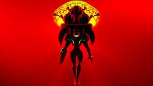 Samus and Metroid (Wallpaper)