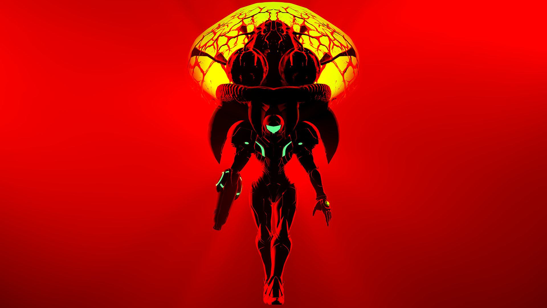 samus and metroid (wallpaper)geniusgt on deviantart