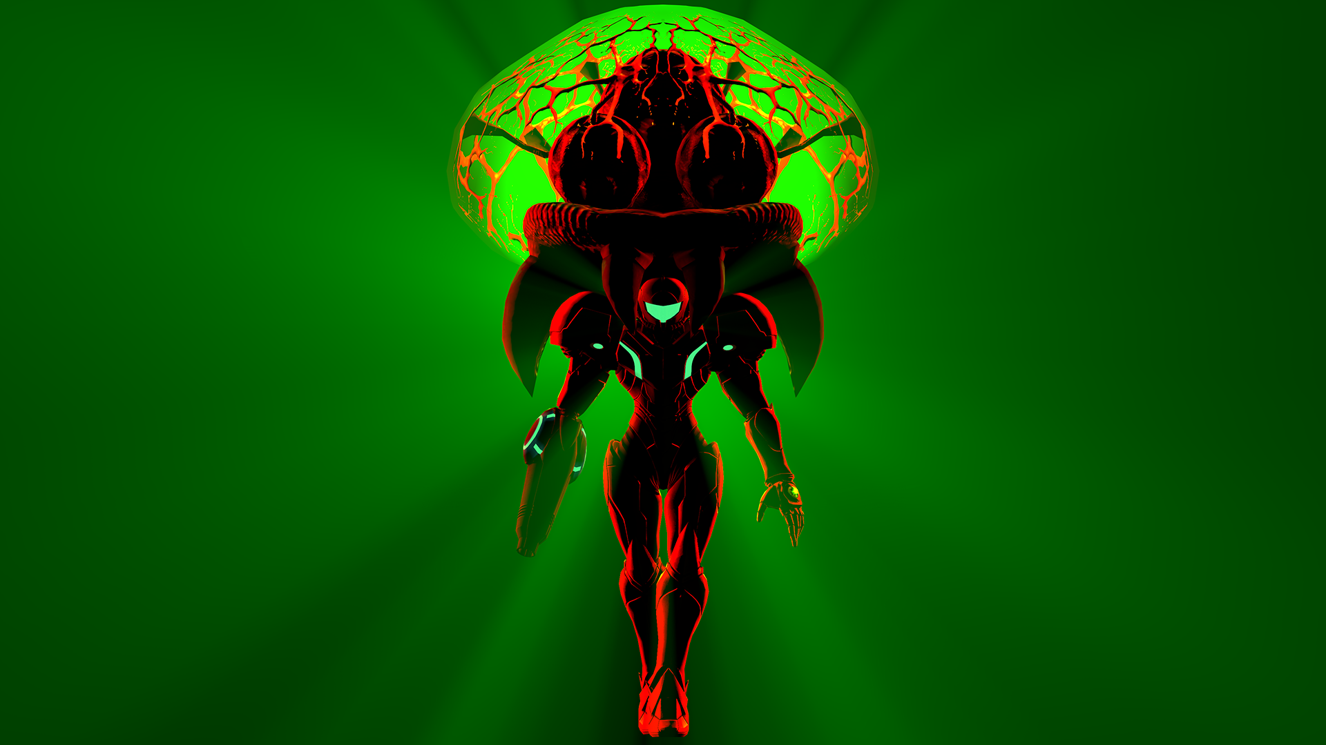 Samus And Metroid Green Wallpaper By GeniusGT