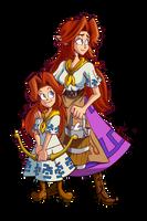 Zelda Collaboration - Romani and Cremia by CentaurHillZone