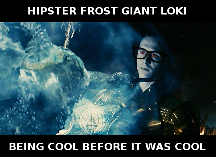 Hipster Loki by GrimSister
