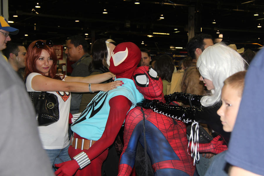 Spider-Man,Mary Jane, and Black Cat by VoiceofSupergirl on ...