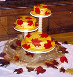 Autumn Fall Wedding Cake 2002 by ALICE-on-ACID