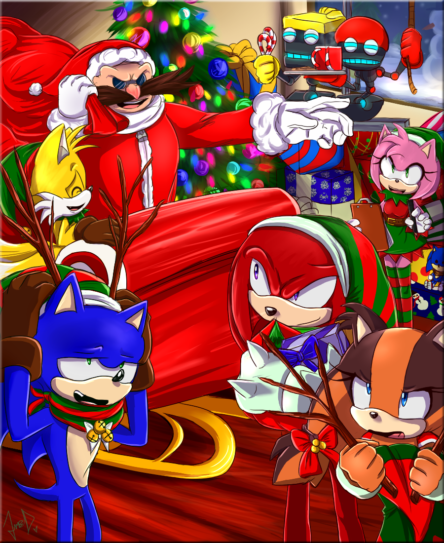 Sonic Boom Chirstmas by FANTASY-WORKS-JMBD