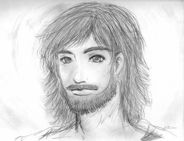 how to draw jesus in 3d