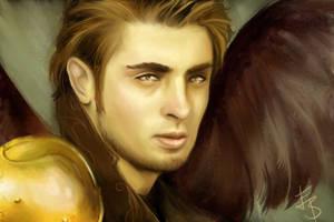 Archangel Michael Portrait by Esther-Sanz