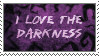 Stamp: I love the darkness by Esther-Sanz