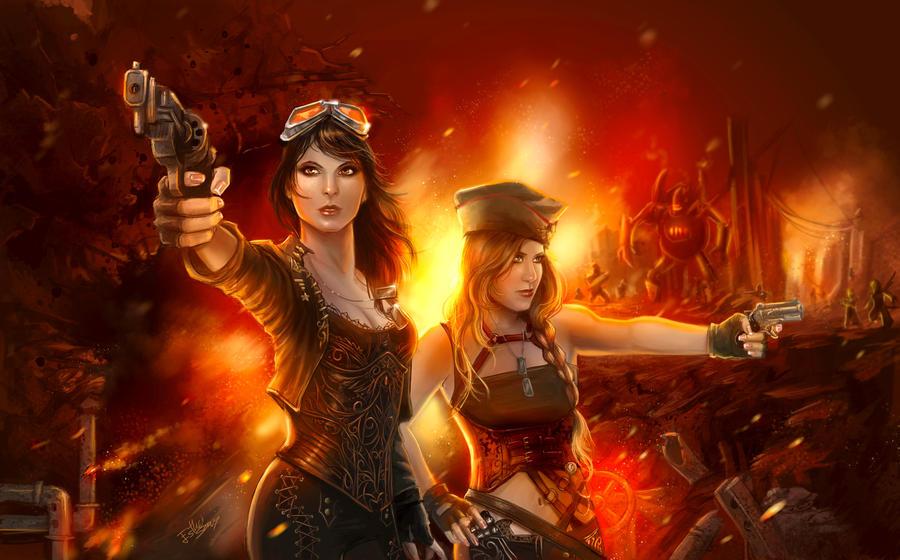 Steampunk por Esther Sanz Ready_soldiers__by_isthar_art-d4xm68p