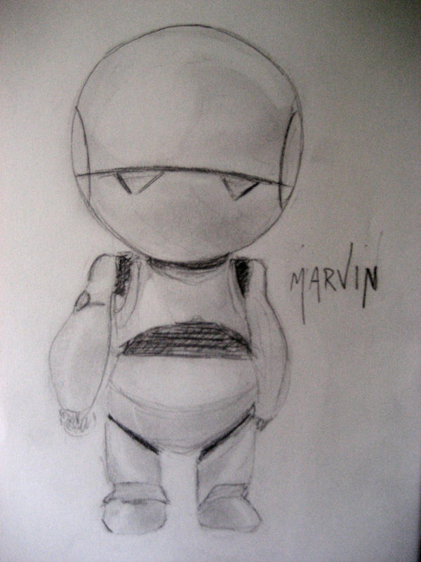 Marvin, the paranoid android by InspirationNeeded