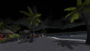 DOA5LR - ZACK'S ISLAND ON NIGHT