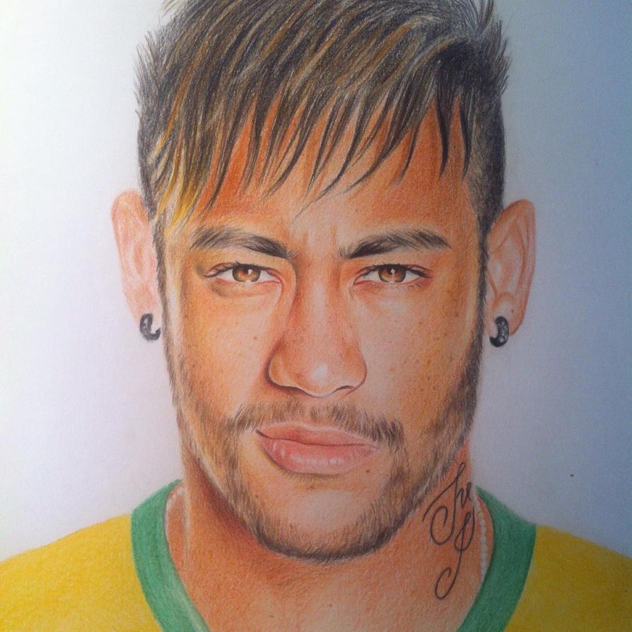 how to draw neymar face