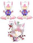 ADOPTABLE 2_Twin-Tailed Pink Fox CLOSED
