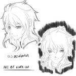 HS sketch COMM_azulann by kura-ou