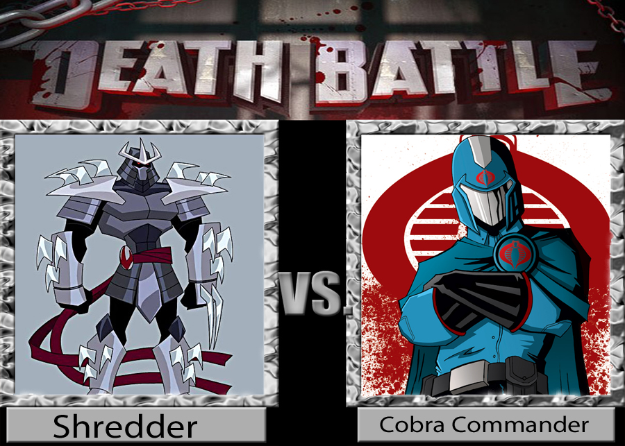 Death Battle idea: The Shredder vs Cobra Commander by ...
