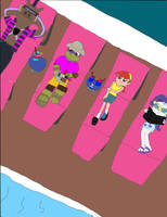 Equestria Ninja Girls Spring Break Down 4 by TMNTony