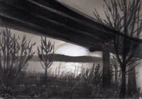 twilight bridge by beckhanson