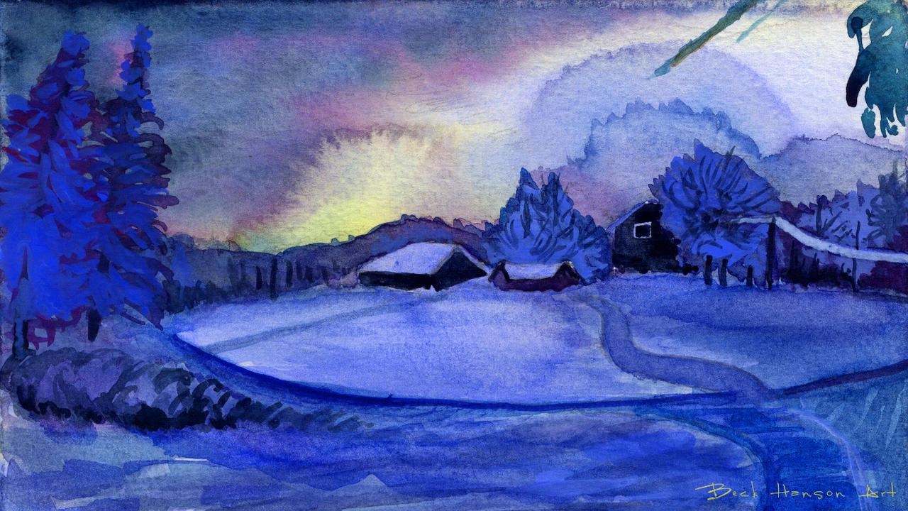 winter daybreak by beckhanson