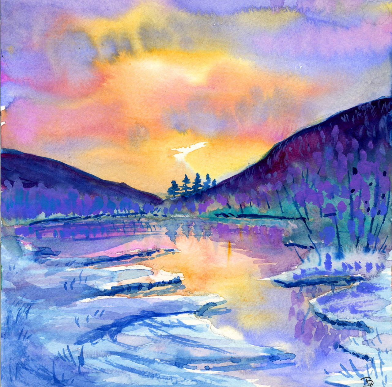 frozen dawn by beckhanson