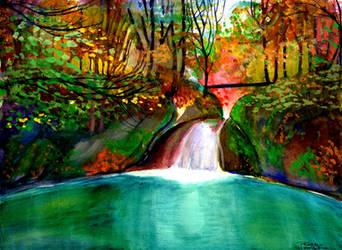 autumn falls by beckhanson