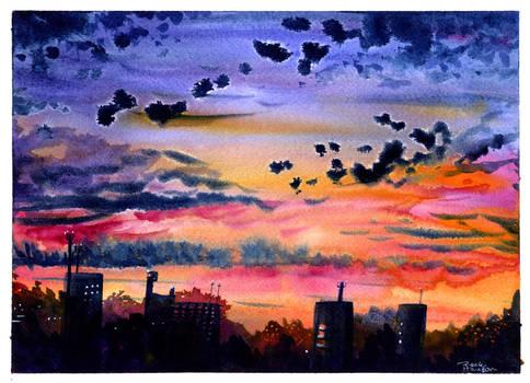 urban dusk