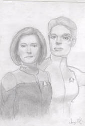 Janeway and Seven by Vaati-Raptor