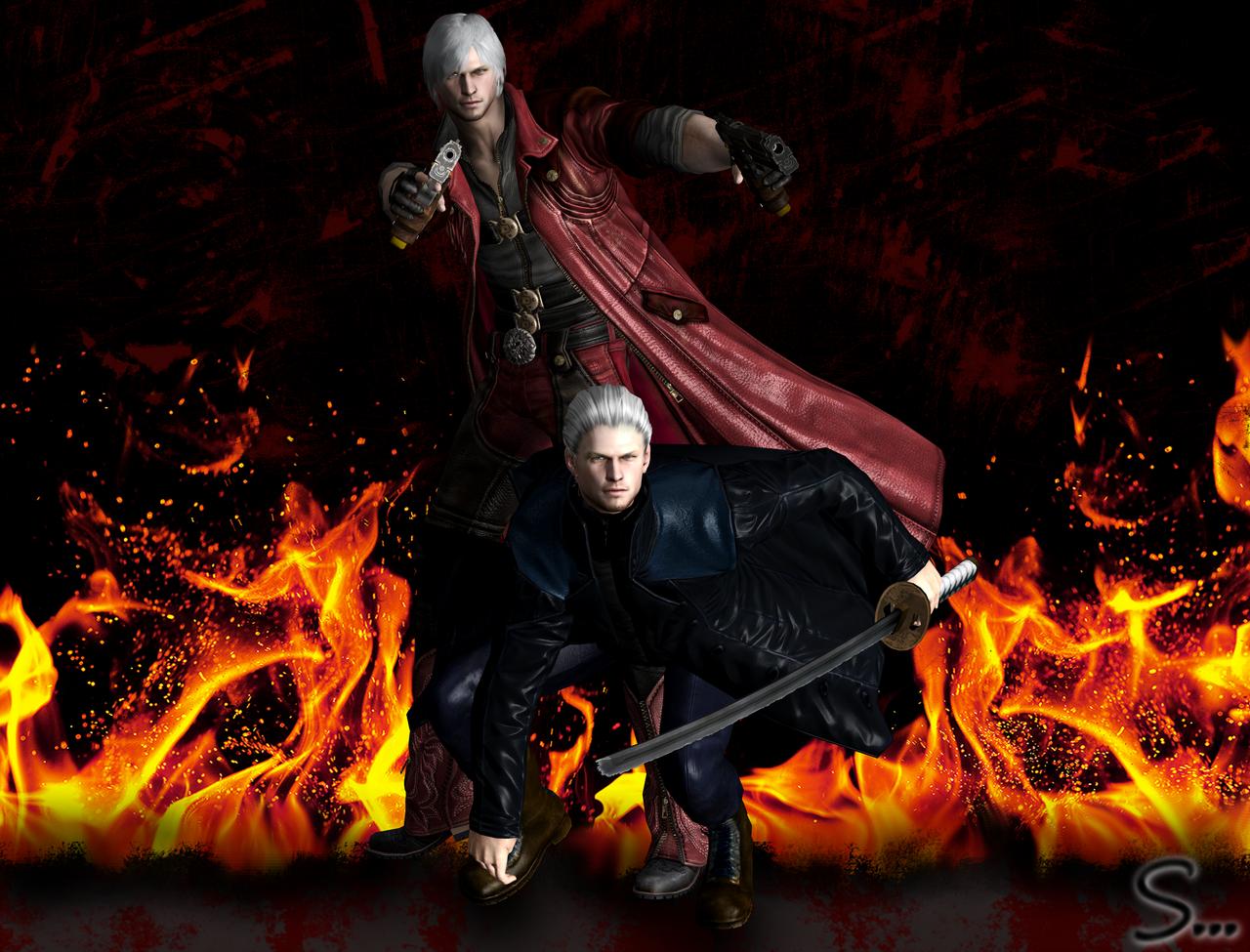 Dante and Vergil DMC 4 by DMC-fan-DMC