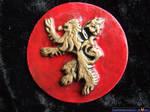 Game of Thrones fridge magnet, House Lannister by FireVerseCeramics