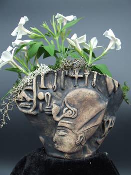 Horemheb Egyptian Pharaoh Kusamono Display Pot